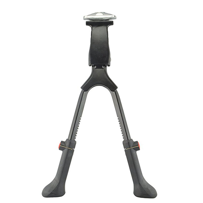 Rowerowa podwójna noga parkingowa MTB rowerowa podpórka stojak rower górski czarna podpórka stójka boczna stopka