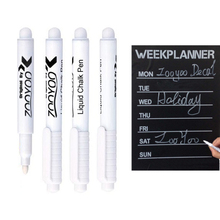 3Pcs/lot White Liquid Chalk Pen Marker for Kids Room Wall Stickers Vinyl Decal Glass Window Chalkboard Blackboard