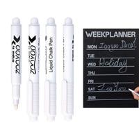 3Pcs/lot White Liquid Chalk Pen Marker for Kids Room Wall Stickers Vinyl Wall Decal Chalk for Glass Window Chalkboard Blackboard