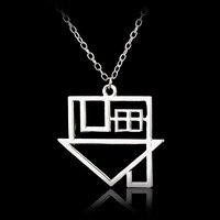 10 יח'\חבילה NBHD מוסיקת רוק TheNeighbourhood להקת רוק אופנה בציפוי כסף שרשרת תליון לוגו למעלה כיתה איכות