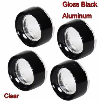 4X Gloss Black Aluminum Trim Ring Visor&Clear Turn Signal Lens For Harley 00-17 Dyna Street Glide Softail Sportster 883