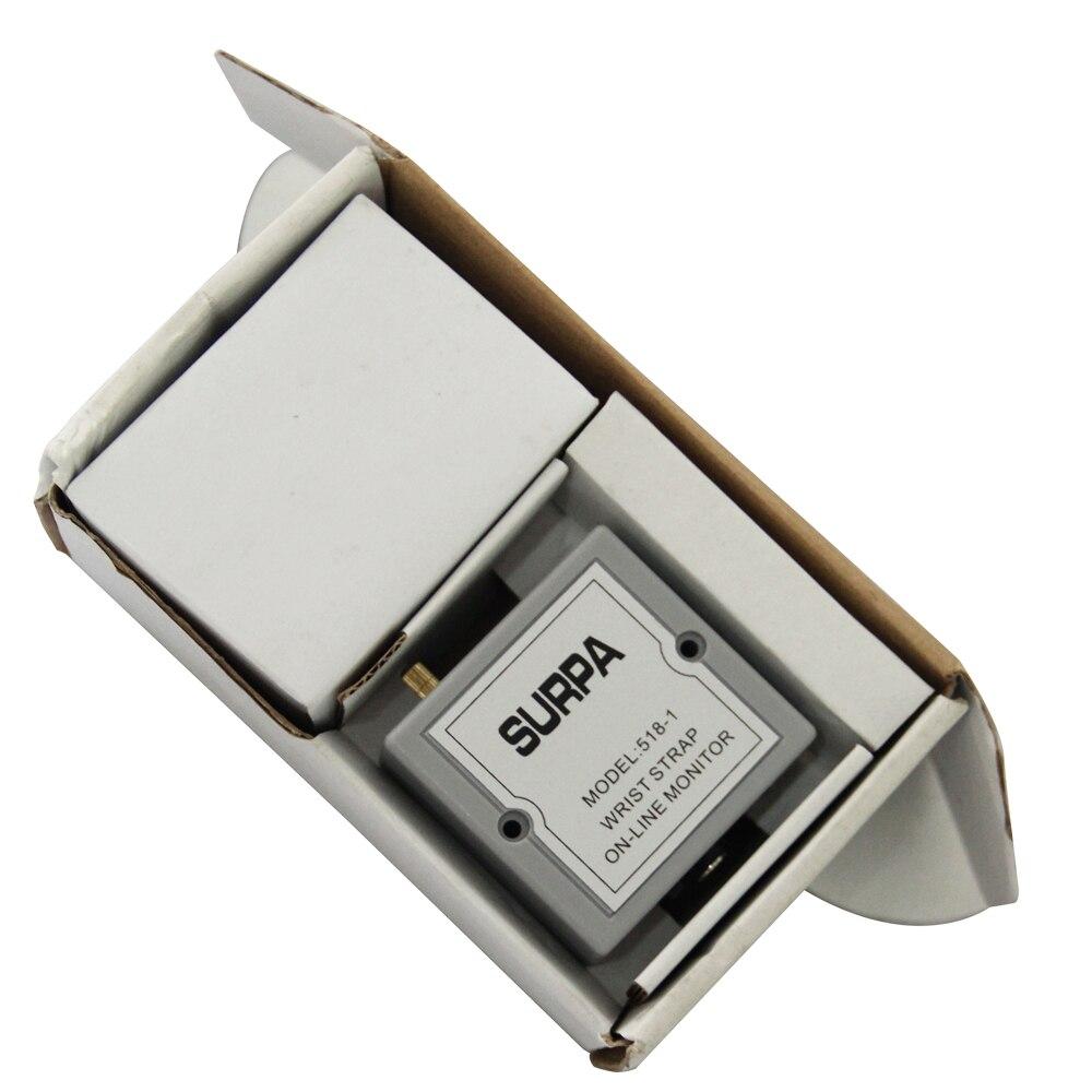 Humorous Surpa 518-1 Auto-alarm Anti Static Esd Wrist Strap Tester Anti-static Online Monitor For Esd Wrist Straps Free Ship