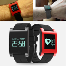 Модные красные, черные фитнес Браслет Смарт Группа Браслет крови Давление монитор сердечного ритма фитнес-трекер Шагомер SmartBand