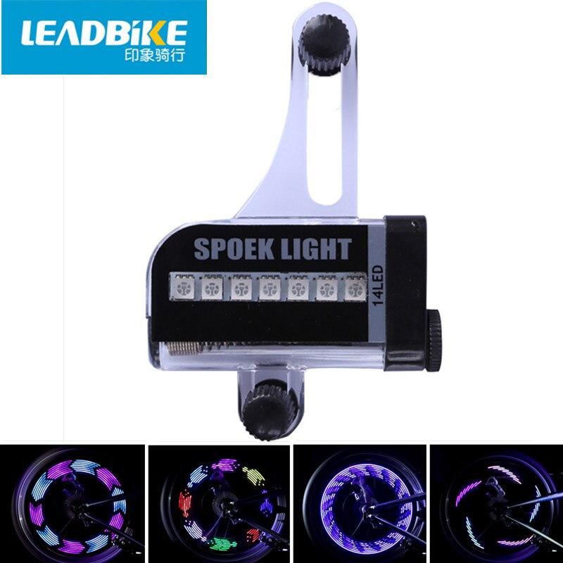 Leadbike Příslušenství pro jízdní kola Nová 14 LED motocyklová cyklistika Bike Wheel Light Signal Tire Spoke Light 30 Změny pro dopravu zdarma