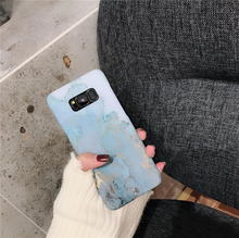 Fashion Pink Blue Marble Case For Samsung Galaxy S7 Edge S8Plus Case Ocean Granite Stone Hard Phone Cases For Galaxy S8 S9 Plus