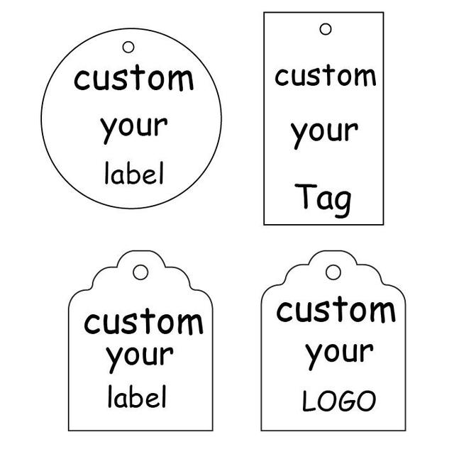 US $18 0 |Custom stickers/custom label/custom/printing labels Wedding  Stickers printed LOGO transparent clear adhesive gift tag Kraft -in Party  DIY