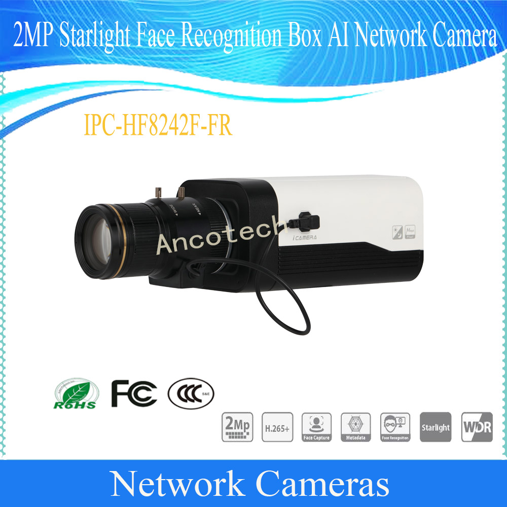 Free Shipping DAHUA CCTV IP Camera 2MP Starlight Face Recognition Box AI Network Camera With POE Without Logo IPC-HF8242F-FR neil young neil young earth 3 lp