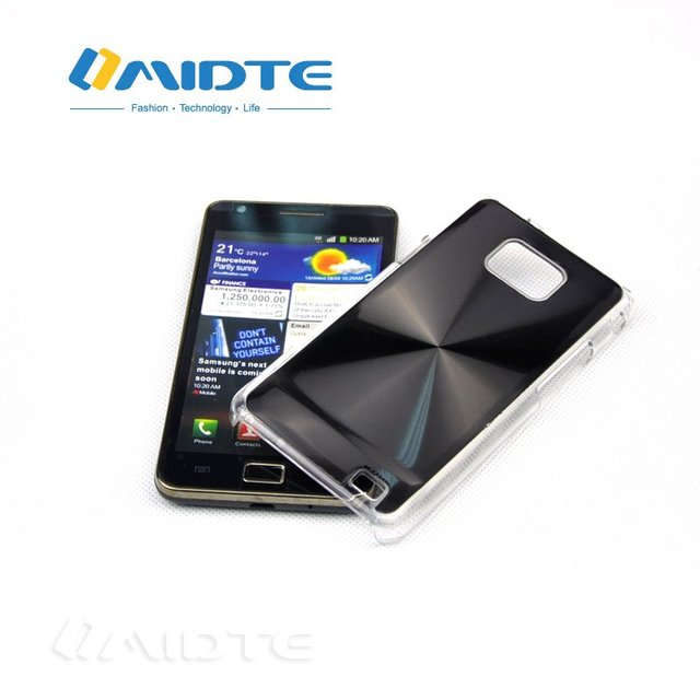 MIDTE High-Quality Aluminum CD Grain BACK COVER HARD CASE FOR SAMSUNG GALAXY SII 2 I9100 S2 FREE SHPPING HKPAM DHL