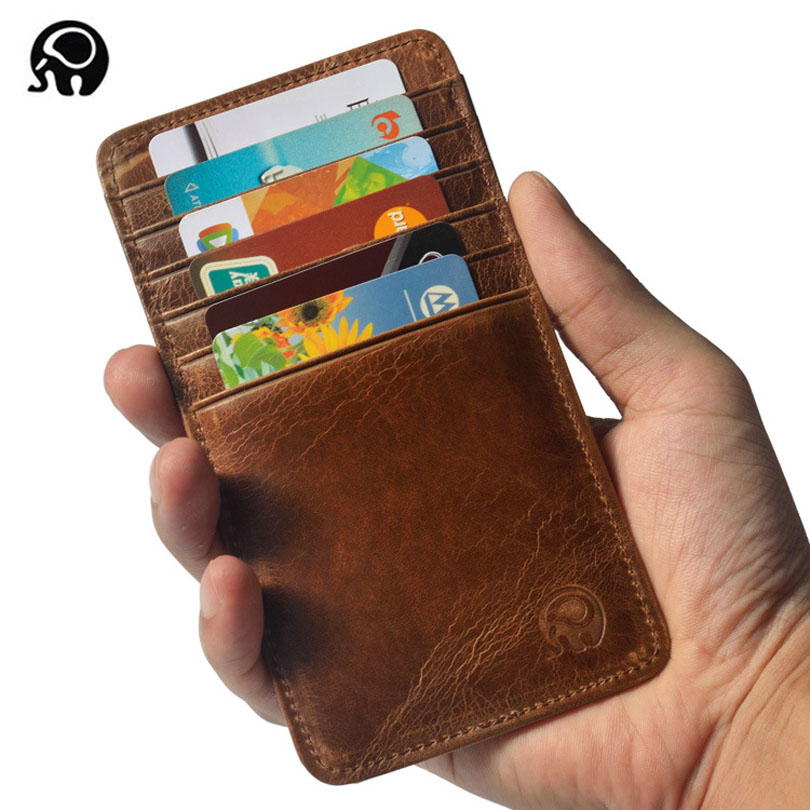 Super Thin Quality Cowhide 100% Genuine Leather 12 Card Slots Business Card Holders Long Wallet Credit ID Card Holder Unisex Men bvp business dress wallet long type men high end daily pack money credit card organizer 100% genuine cowhide leather j40