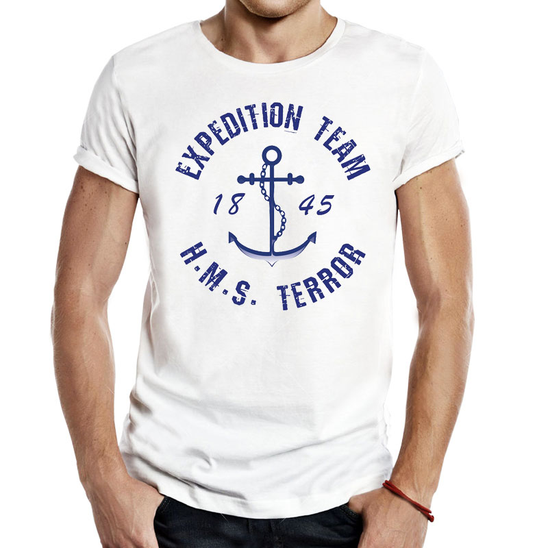 23cf1ba7 US $11.99 |HMS The Terror Men Unisex Tees Tops T Shirts The Terror Tv Show  Lost Ship Movie EXPEDITION TEAM Casual Apparel Fashion classic-in T-Shirts  ...