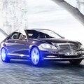4 unids fresco Sin batería Sin cable car styling advertencia maglev cubo de la rueda de Válvula del Neumático de la Decoración de La lámpara para Audi