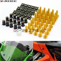 Motorcycle Accessories Custom Fairing Screw Bolt Windscreen Screw FOR KAWASAKI Zx6r Zx636 Zx10r Z1000 Z750r Z1000sx