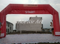 inflatable Racing arch with removable Start & finish Banner for Ancient Architectural Buildings Culture advertising in India