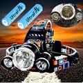6000лм 4-режимный Головной фонарь из бисера T6 + 2R5 светодиодный налобный фонарь для кемпинга  рыбалки + 2*18650 батареи + Автомобильное зарядное уст...