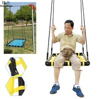 Homdox New Outdoor Comfort Durability Hanging Chair Large Hammock Chair Net Square Swing Kit N20A