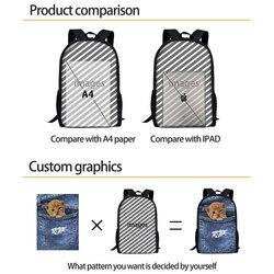 FORUDESIGNS marka Design piłka nożna/piłka nożna druku torby szkolne dla nastolatków podstawowego dla dzieci Plecak dla dzieci męski Plecak Plecak Szkolny 3