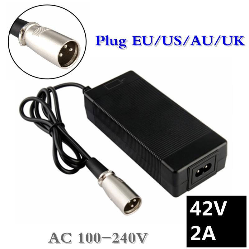 42V 2A electric bike lithium battery charger for 36v electric scooter microphone XLR head good quality цена