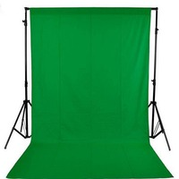 DAWNKNOW Green screen cotton Muslin background Photography Solid color backdrop lighting PS Cutout studio Chromakey For Photo