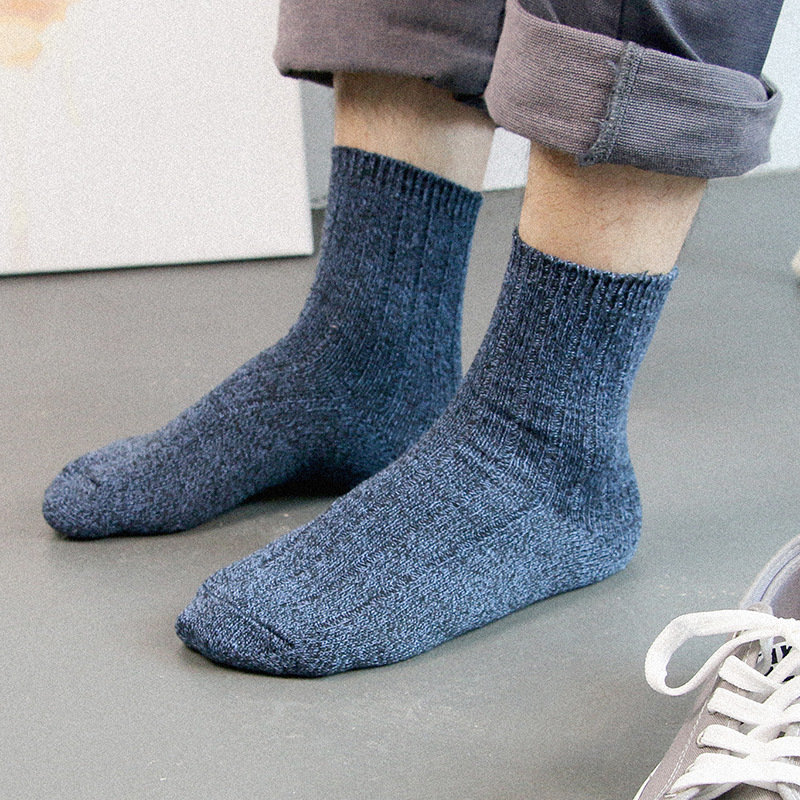 Socks men's comfortable trend double needle in the tube men's socks retro socks