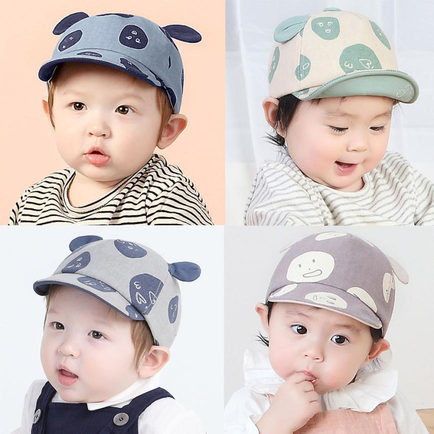 Spring Infant Hat Autumn Caps Baby Beanie For Boys Girls Sharp Sun Hat Graffiti Children Hats lowest price
