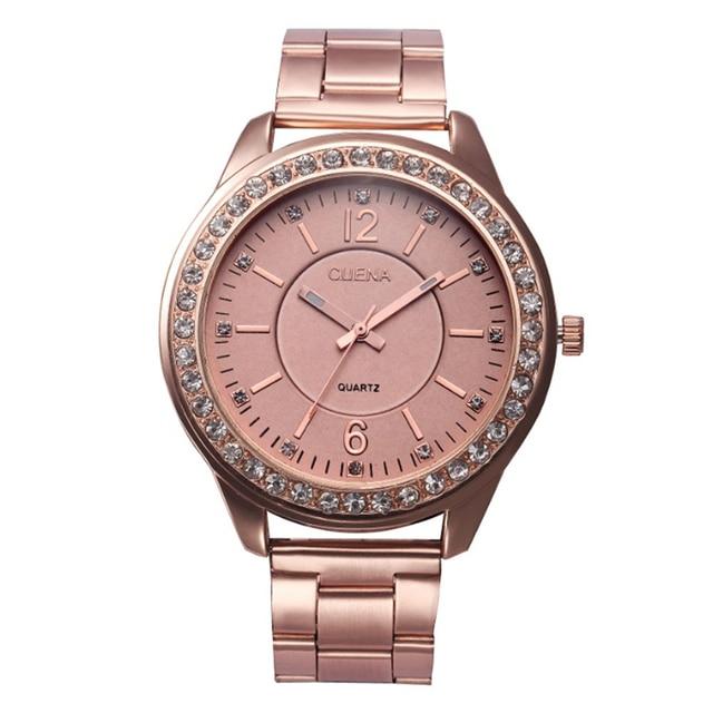 Fabulous 2016 fashion Women Men Unisex Stainless Steel Analog Quartz Wrist Watch