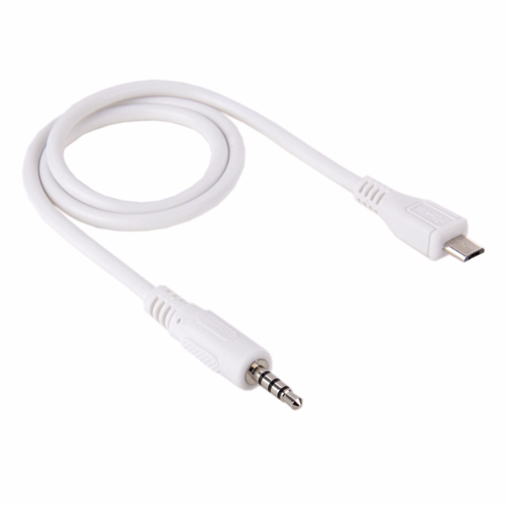 2 Pcs 3.5mm Male to Micro USB Male Audio AUX Cable, Length: about 50cm (The price is for 2 pcs)