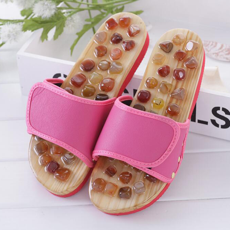 Health care woman Massage Slippers High Quality Men's Foot Massage Slippers  cobblestone shoes woman Home Shoes flat flip flops b|Slippers| - AliExpress