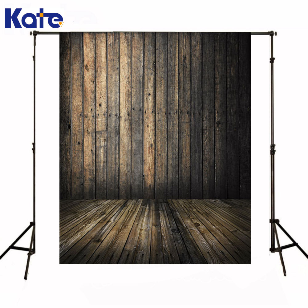 Kate Newborn Baby Photography Background Dark Wood Texture Wall Photography Backdrop Wooden Floor Backdrops For Photo Shoot  недорого