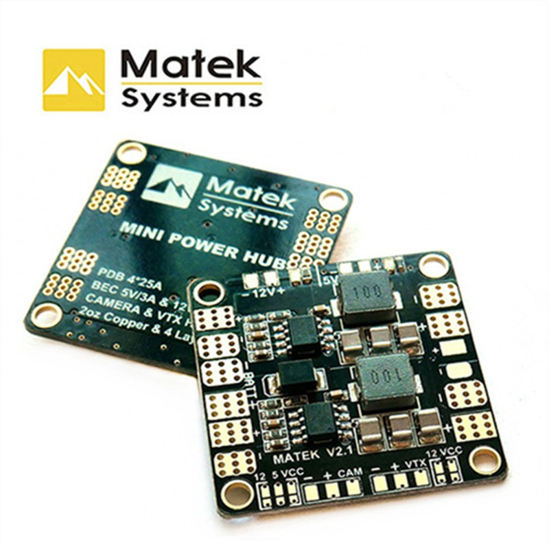 Matek Mini Power Hub Power Distribution Board With BEC 5V And 12V For RC FPV Racing Drone FPV Multicopter