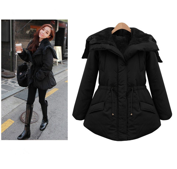 New Nice Winter Women Clothes Long Sleeve Thicken Warm Outerwear Jacket Slim Casual Winter Jacket Women Coat Plus Size 4XL HZ141 2015 new hot winter thicken warm woman down jacket coat parkas outerwear hooded loose straight luxury brand long plus size xl