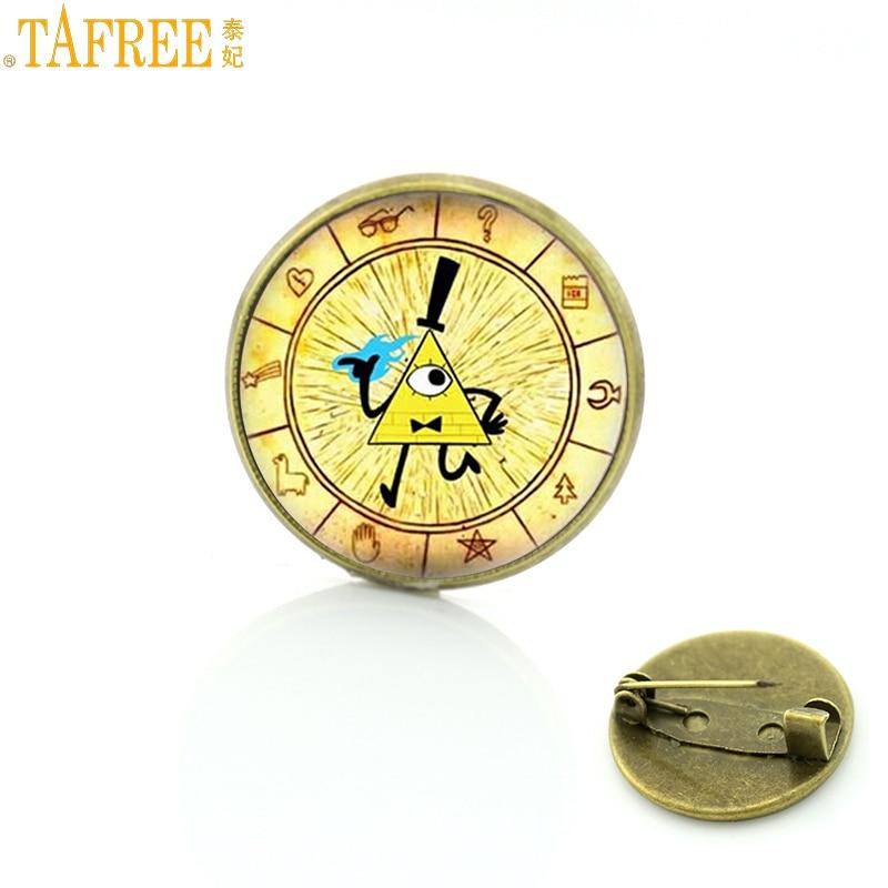TAFREE мультфильм драма Фолз брошь булавки тайны Билл цитер колесо фото ювелирные изделия значок для мужчин женщин CT09