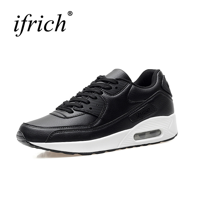 Ifrich Women Runing Shoes Comfortable Mens Sneaker Athletic White Black Couples Trainers Air Shoes Cheap Running Sneaker Men