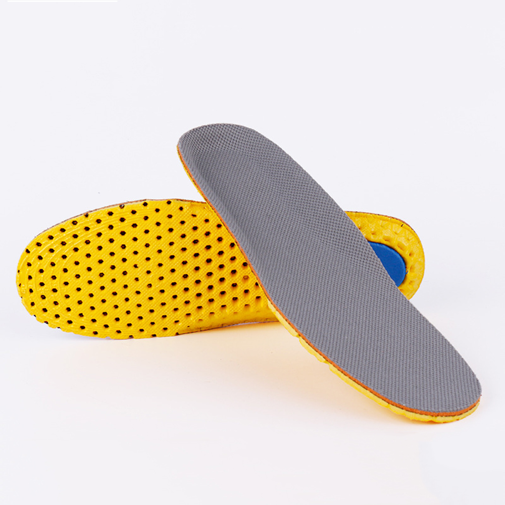 Summer Cushion Insoles Male Female Anti-slip Wicking Flat Foot Sports Leather Running Stretch Deodorization Breathable 2019 New