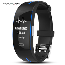P3 ECG PPG Smart Band Watch Bracelet Blood Pressure Heart Rate Fitness Tracker monitor Sport Pedometer IP67 Waterproof Wristband все цены