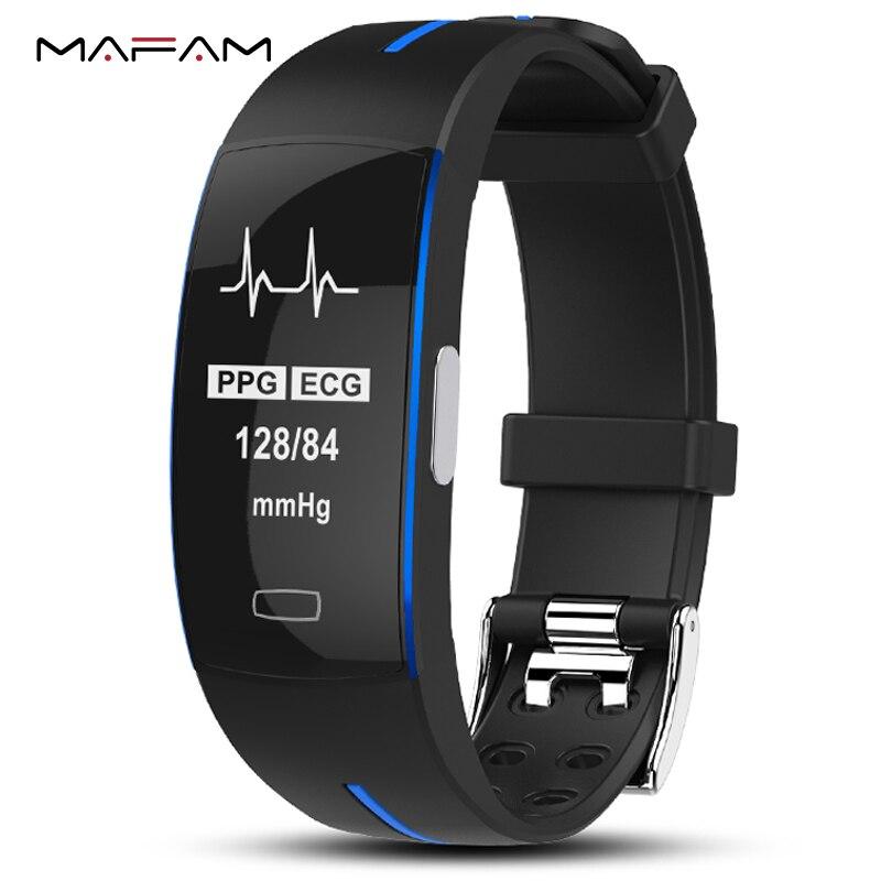 P3 EKG + PPG Smart Band Blutdruck Herz Rate Fitness Tracker Smart Armband Band Sport Schrittzähler IP67 Wasserdicht Armband