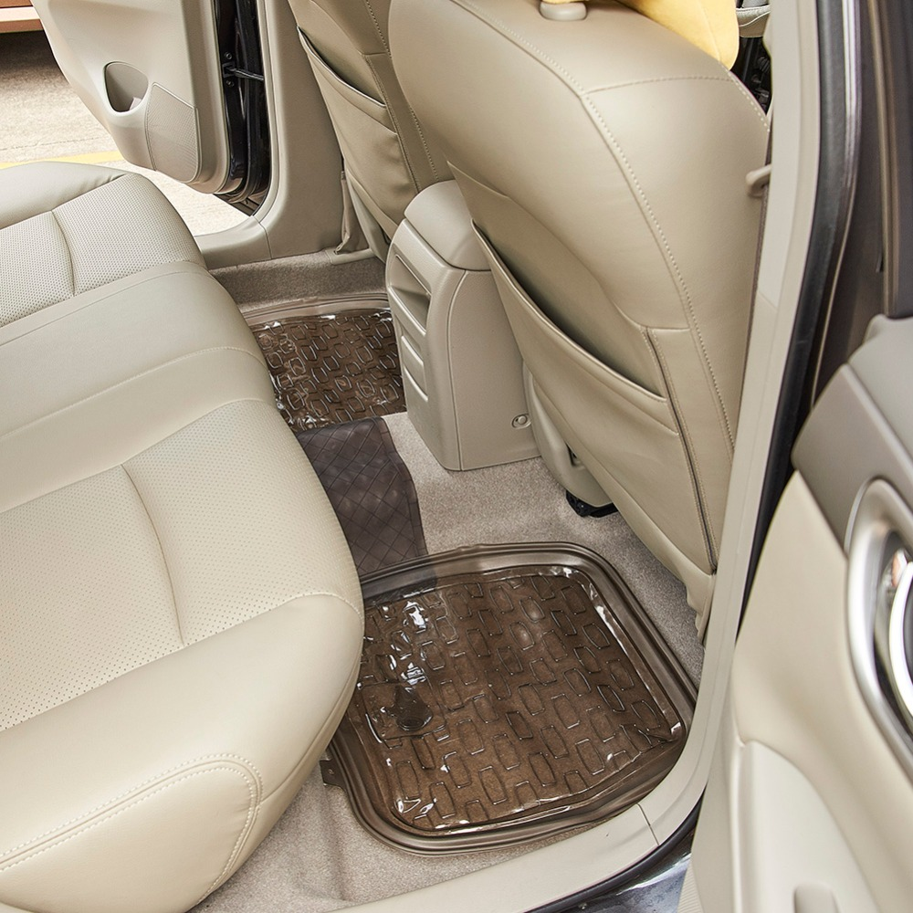 Car Accessories Floor Mat Automobile Interior Front Rear Carpet Rubber Covers 5 Pieces