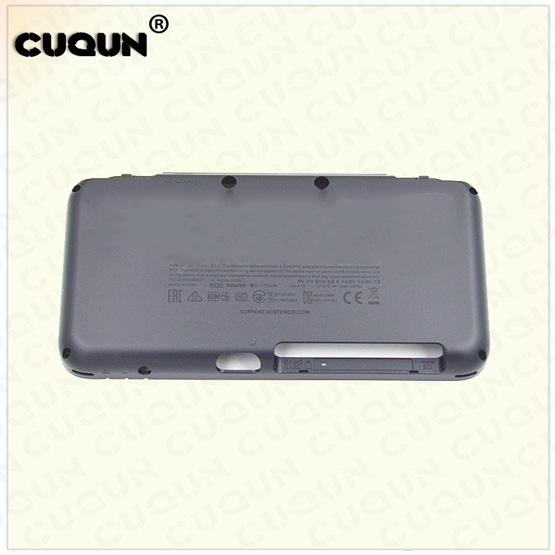 Original Black Back Cover Housing Shell For New Nintend 2DS LL XL Console Bottom Case Shell For New 2DS XL