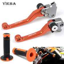 For KTM 250EXC 2003 2004 2005  Motorcycle Grips Handle Rubber Bar Gel Grip Pivot Brake Dirt Bike Clutch Lever