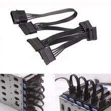 Estable 4 Pin convertir conectores de ordenador SATA Splitter disco duro IDE a SATA profesional Cable de alimentación adaptador