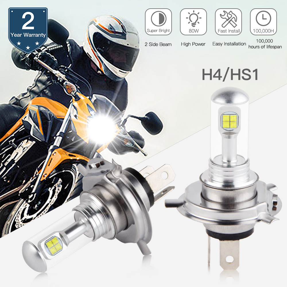 H4 LED Headlight Bulb 220W Hi//Low Beam For Yamaha Grizzly 300 550 700 Motorcycle