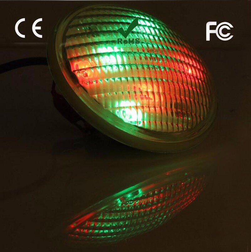 4pcs/lot Factory Direct Supply 54W RGB Stainless Steel LED Swimming Pool Pond Par56 Lights AC12-24V IP68 with CE FCC&ROHS