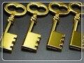 Dourada de Metal chave 4 GB-64 GB capacidade Real pen drive u disk polegar do USB 2.0 Flash Drive memory stick presente/lembrança/Atacado S126