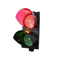 Wideway 200mm PC Housing Red Green 2 Aspects Car Traffic Signal Light