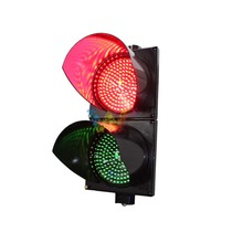 Купить с кэшбэком Wideway 200mm PC Housing Red Green 2 Aspects Car Traffic Signal Light