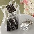 10 Pcs Moda Falso Diamante de Cristal Chaveiro Anel de Guardanapo da Festa de Casamento Mesa de Jantar Guardanapo de Papel Toalha Titular Anel Branco