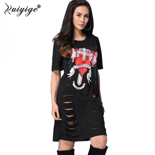 ad6bb877aa 2018 African Print T shirt Dress Punk Rock Style Summer Women Casual Mini  Dress Sexy Black O-Neck Short Party Dresses vestidos