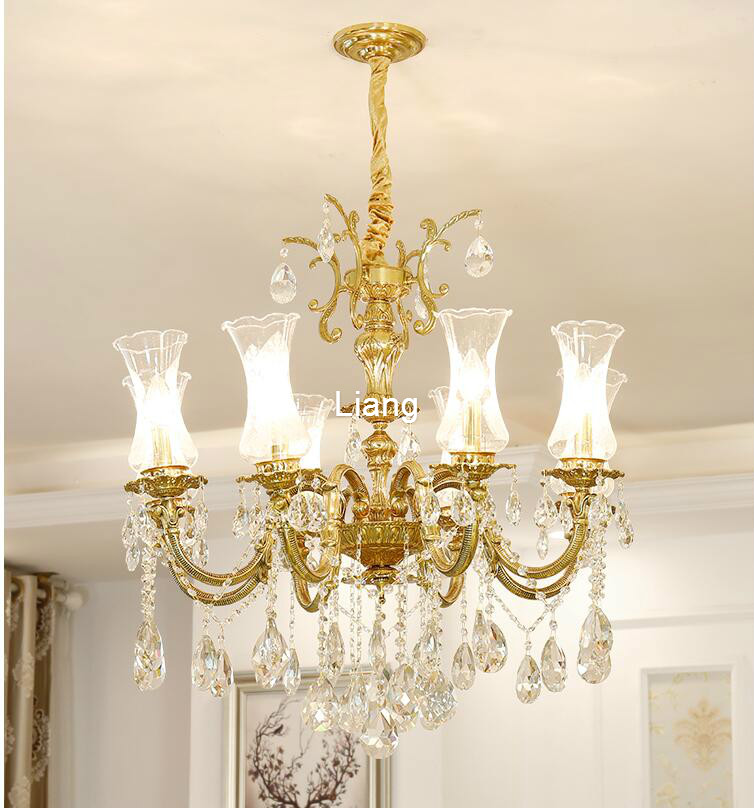 Free Shipping European D72cm H80cm Crystal Chandelier Hanging Lamp Bronze E14 LED AC Lighting Fixture Lustre Suspension LightingFree Shipping European D72cm H80cm Crystal Chandelier Hanging Lamp Bronze E14 LED AC Lighting Fixture Lustre Suspension Lighting