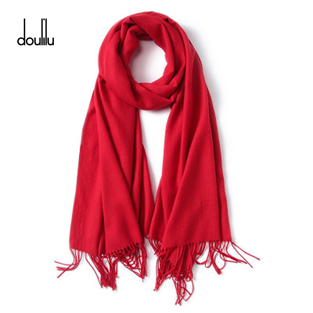 2018 Classic Summer Scarves For Women Thin Shawls And Wraps Fashion Solid Female Hijab Stoles Pashmina Cashmere Foulard Gift