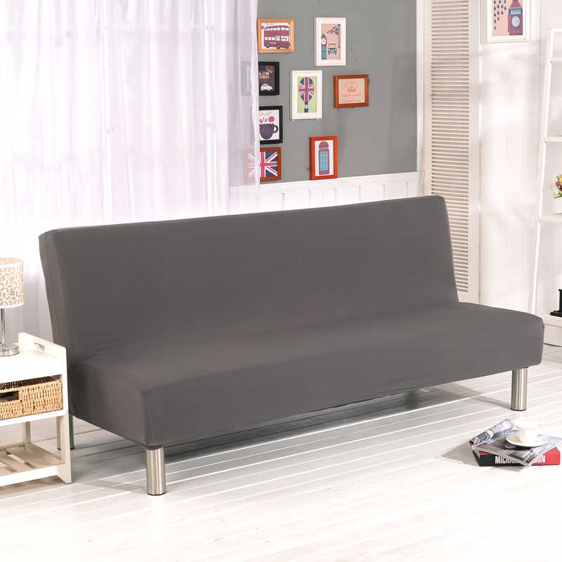 Armless Sofa Bed Cover Folding Seat