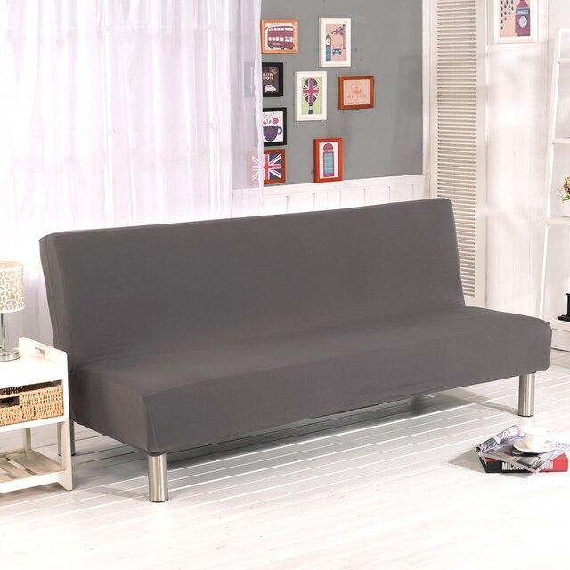 Universal Tanpa Lengan Sofa Bed Cover Lipat Sarung Kursi Peregangan